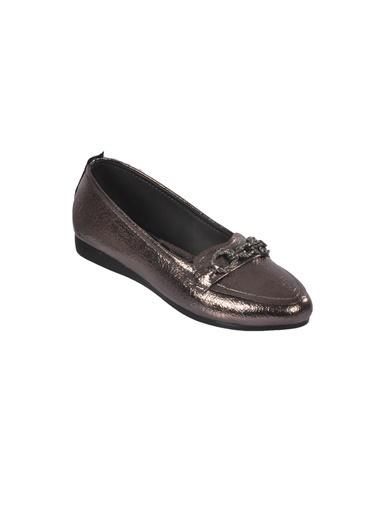 Mhd 2675 Platin Kadın Günlük Ayakkabı Gümüş